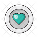 Love Heart Plate Icon