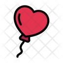 Love Balloon Fly Icon