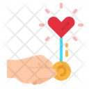 Love Hand Light Icon