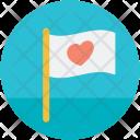 Love Flag Care Icon
