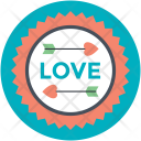 Love Badge Label Icon