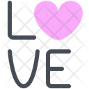 Love Heart Text Icon