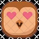 Love Heart Owl Icon