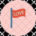 Love Flag Wave Icon