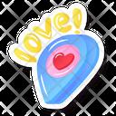 Love Love Location Heart Icon
