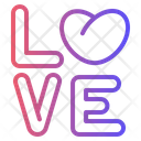 Love Love Text Text Icon