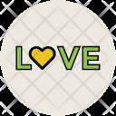 Love Text Written Icon