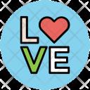 Love Logo Text Icon