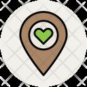 Love Pin Heart Icon