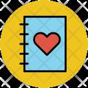 Love Diary Book Icon