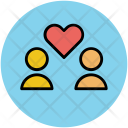 Love Heart Couple Icon
