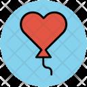 Love Balloon Celebration Icon