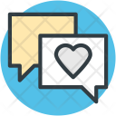 Love Chat Speech Icon