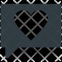 Love Chat Speech Icon
