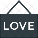 Love Hanging Sign Icon