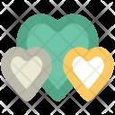 Love Hearts Three Icon