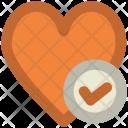 Love Heart Check Icon