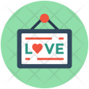 Love Signboard Hanging Icon