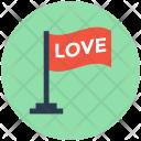 Love Flag Insignia Icon