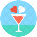 Love Cocktail Drink Icon