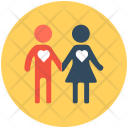 Love Birds Couple Icon