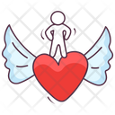 Love Angel Peace Angel Heart Wings Icon