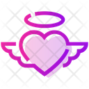 Valentine Day Angel Heart Icon