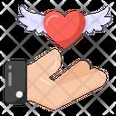 Valentine Angel Love Angel Love Care Icon