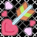 Archery Love Heart Icon