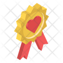 Award Badge Valentine Badge Heart Award Icon