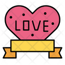 Badge Ribbon Heart Icon