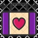 M Suitcase Love Bag Honeymoon Bag Icon