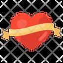 Love Banner Love Emblem Heart Banner Icon