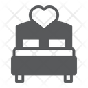Love Bed Heart Icon