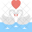 Ducks Love Romantic Icon