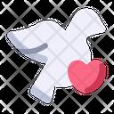 Bird Dove Heart Icon
