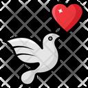 Love Bird Sparrow Fowl Icon