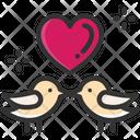 M Love Love Bird Romantic Bird Icon