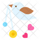 Love Bird Heart Bird Icon