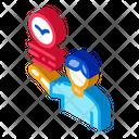 Human Talking Bird Icon