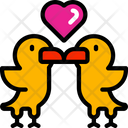 Love Birds Animal February Icon