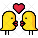 Lovebirds Birds Valentine Icon