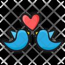 Love Birds Creature Pigeon Messenger Icon