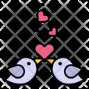 Love Birds Heart Romantic Icon