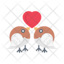 Loving Birds Wedding Icon