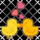 Love Birds Duck Heart Icon