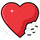Love Bite Heart Bite Romantic Bite Icon