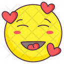 Love Blush Emoji Love Blush Expression Emotag Icon