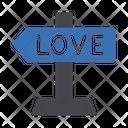Love Direction Board Icon
