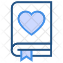 Heart Valentines Day Book Icon